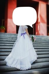 свадебное платье 44-46 размера,  каскадный подол,  шлейф