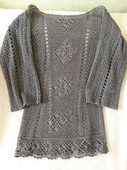 Вязаное платье. Лён.