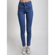 Светлые джинсы (джеггинсы) на высокой талии
