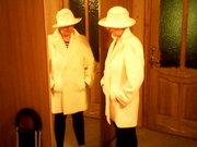 Белое полупальто и шляпа. Комплект новый