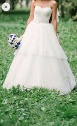 Свадебное платье со школы 40-44