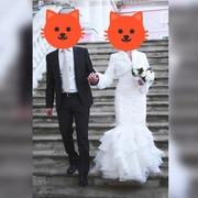 Отдам даром свадебное платье + шубка